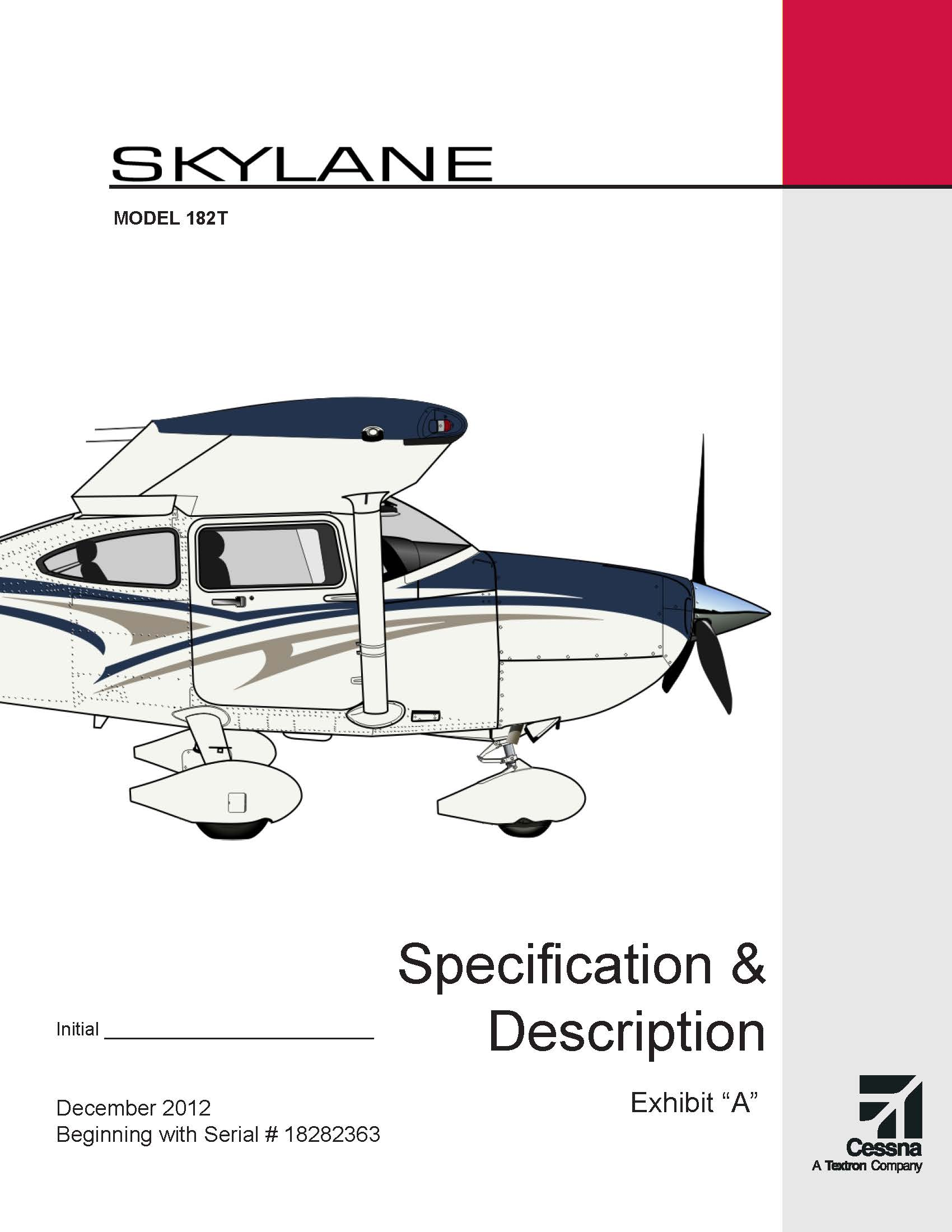 Cessna Skylane specification and description