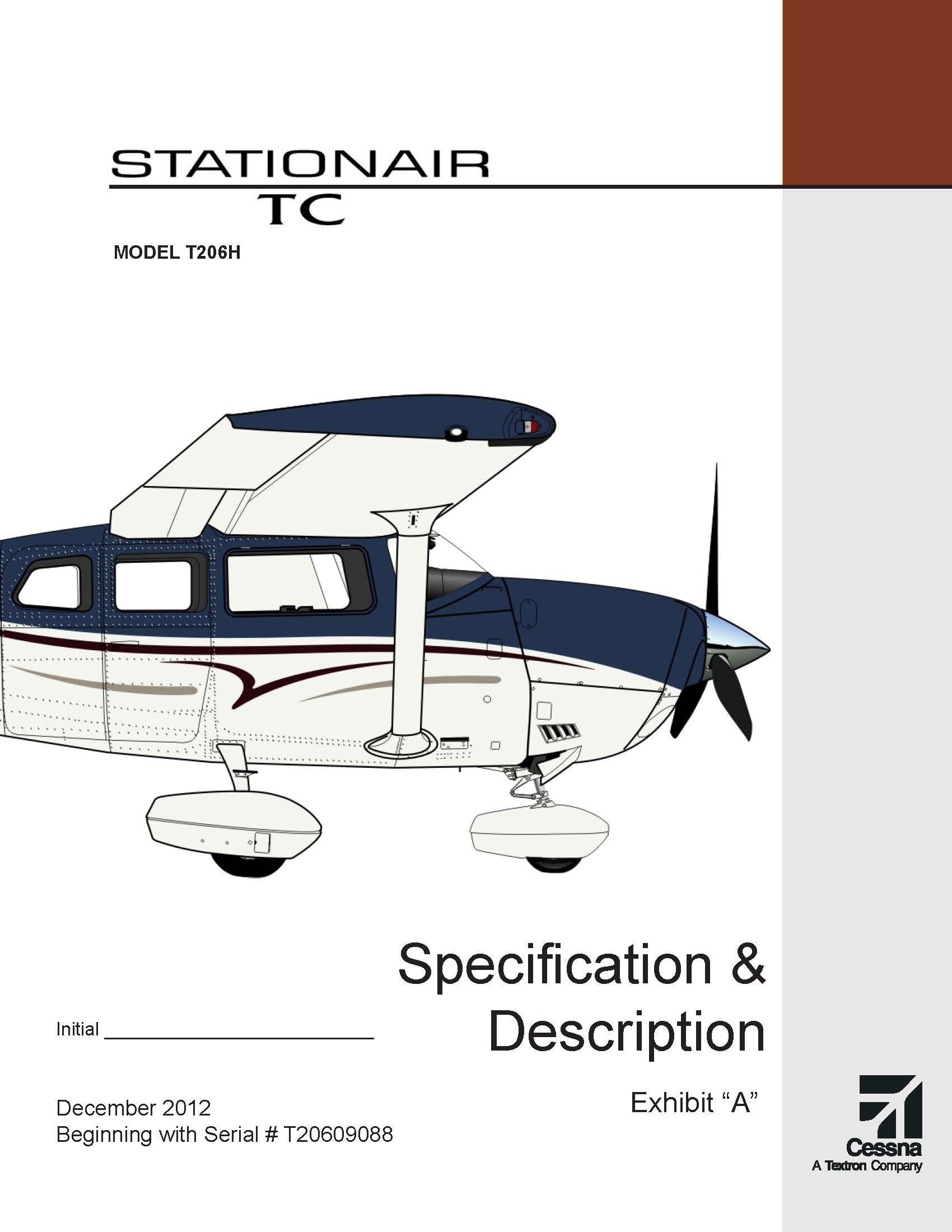 Cessna Turbo Stationair specs and description