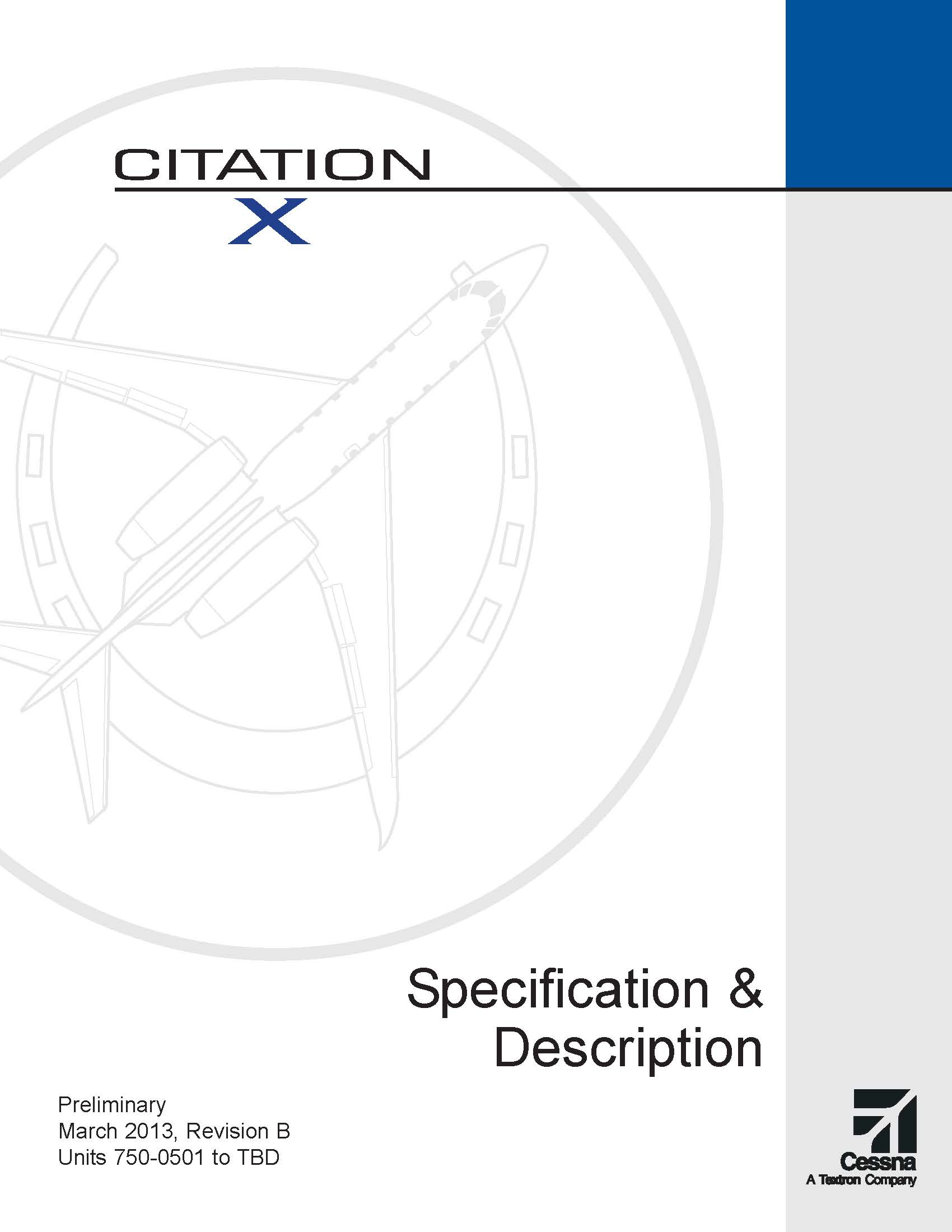 Citation X spec & description electronic brochure