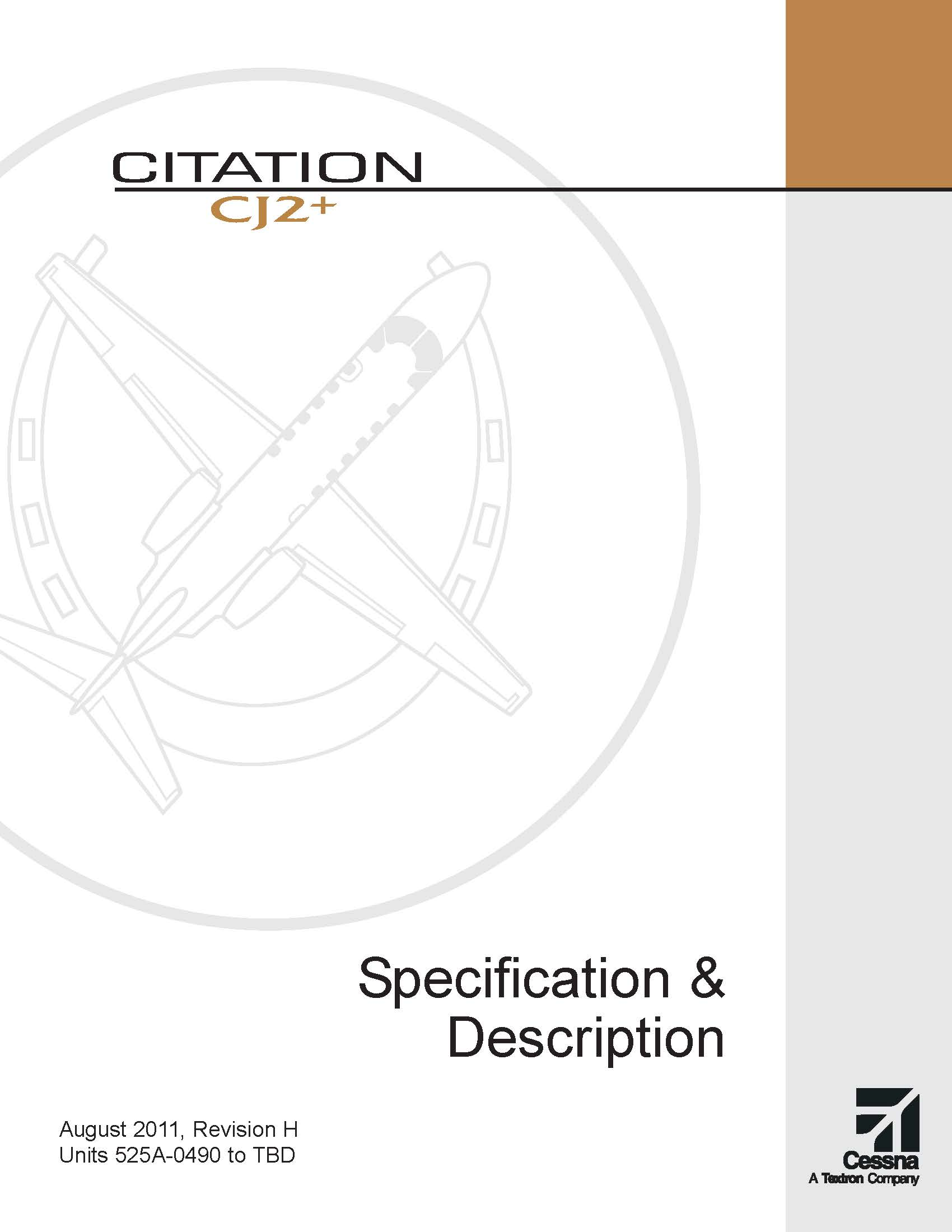 Citation CJ2+ spec & description electronic brochure