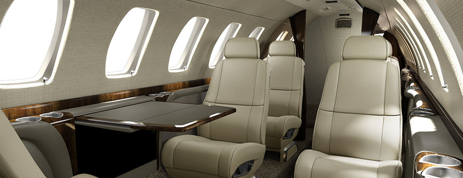 Citation cj3 Carnegie Interior collection