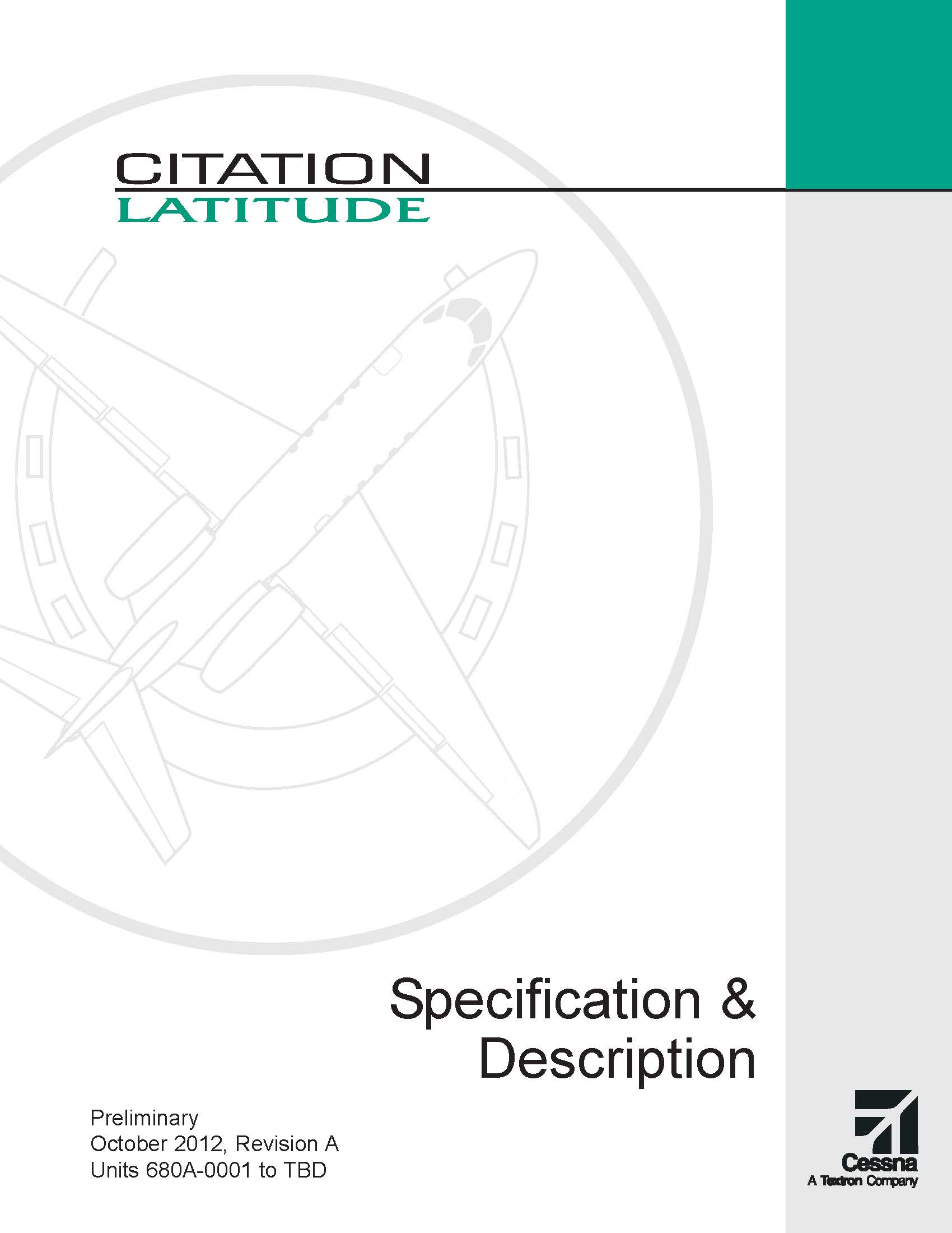 Citation Latitude spec and description brochure