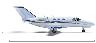 Citation Mustang overall height/length