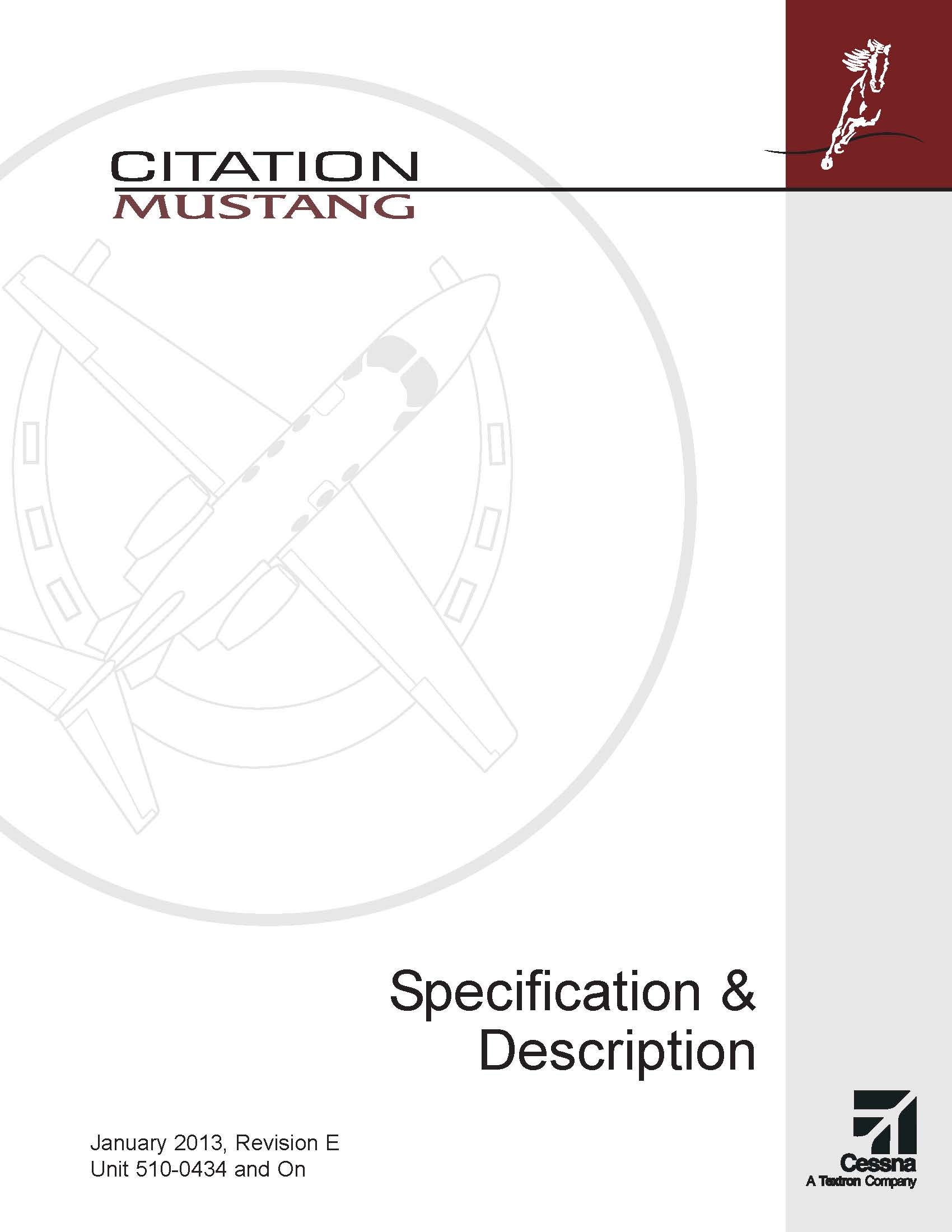 Citation Mustang spec & description